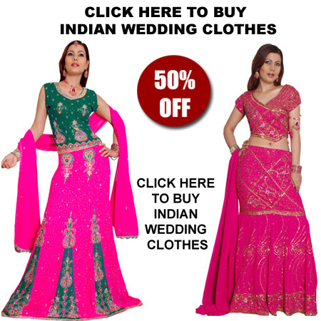Indian Wedding Clothes - Buy Indian wedding clothes from our online shop