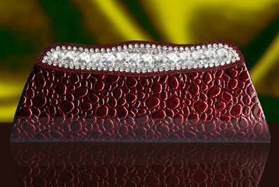 Designer Clutch With Stones & Beads