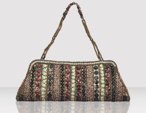 Designer Clutch Bag With Stones & Beads