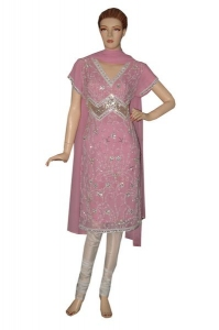 Bridal Salwar Kameez With Churidar And Heavy Embellishment.
