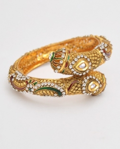 Indian Bracelet With Meenakari & Stones