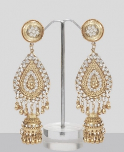 Shining Silver Jhumka Earrings Online Shopping Shop
