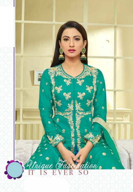 Teal Green Palazzo Salwar Suit - Click Image to Close