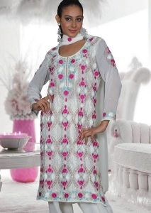 Party Wear Salwar Kameez with Embroidered