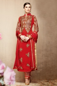 Red Wedding Churidar Suit