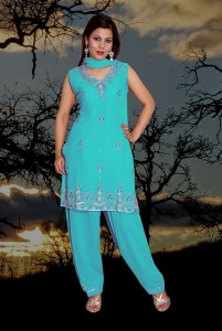 Salwar Kameez Embroidered.