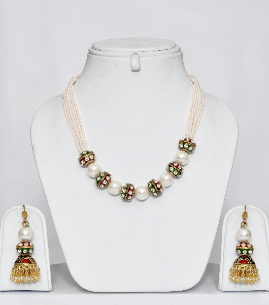 0c82cc0d8f0 Indian Pearl Necklace Set   Online Shopping