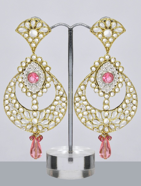 Latest Kundan Jewellery Designs Earrings