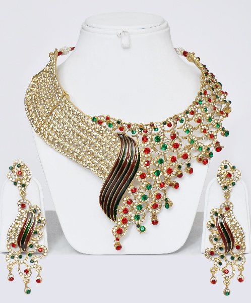 Designer Jewelry Set With Stones Online Shopping Shop For Great Products From India With Discounts And Offers Indian Clothes And Jewelry Online Shop