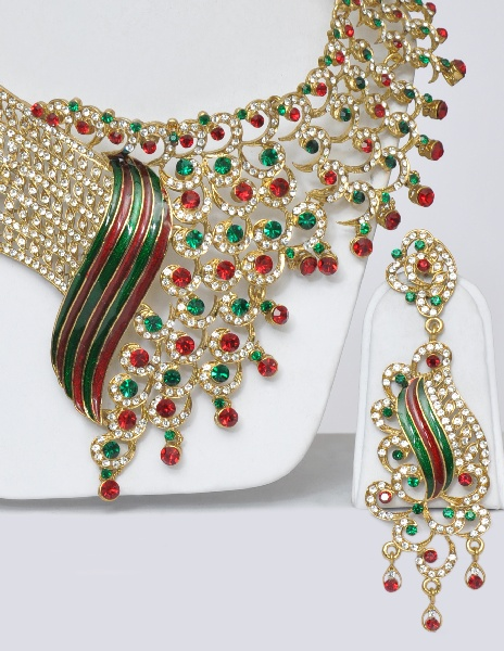 Designer Indian Wedding Jewelry Set - Click Image to Close