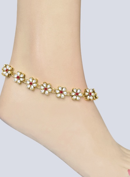 Kundan Anklet Pajeb Payal Online Shopping Shop For