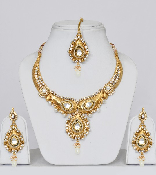Gold Plated Polki Wedding Jewelry Set Online Shopping Shop For Great Products From India With Discounts And Offers Indian Clothes And Jewelry Online Shop