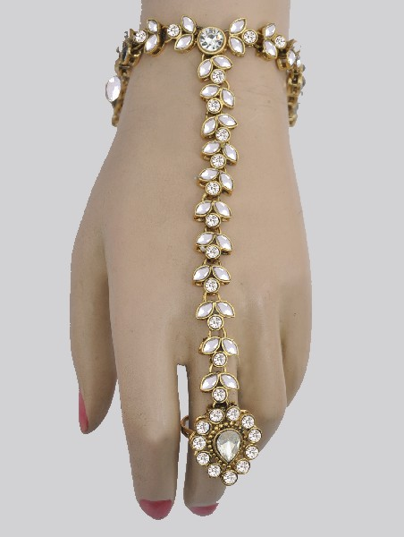 0f43e3864f Kundan Bracelet with Ring : Online Shopping, - Shop for great ...