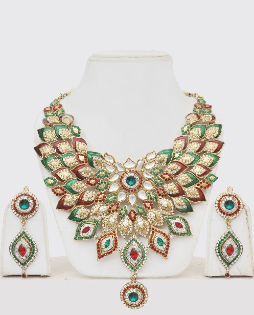 be6e34cb688 Indian Fashion Jewelry Floral Design   Online Shopping