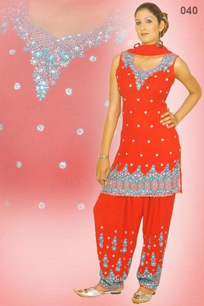 d410901189 Salwar Suit With Heavy Stone And Resham Work : Online Shopping ...