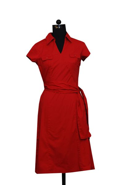 Red Cotton Dress With Belt. : Online Shopping, - Shop for great ...
