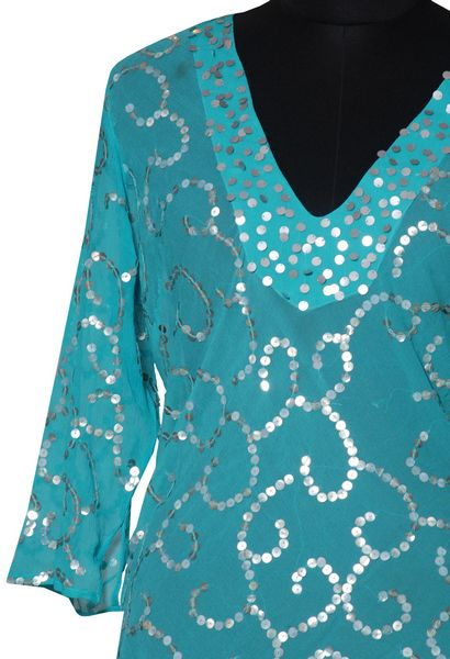Sequins Long Top. - Click Image to Close