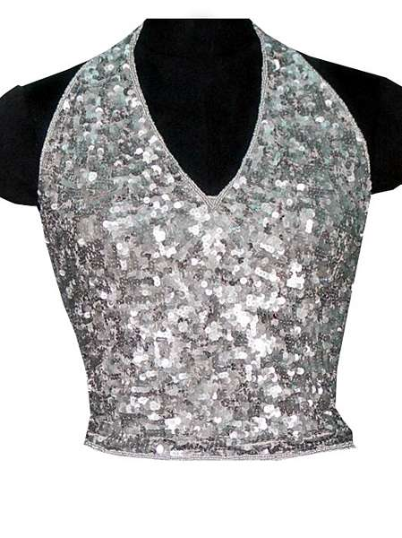 Sequin And Beaded Top - Click Image to Close