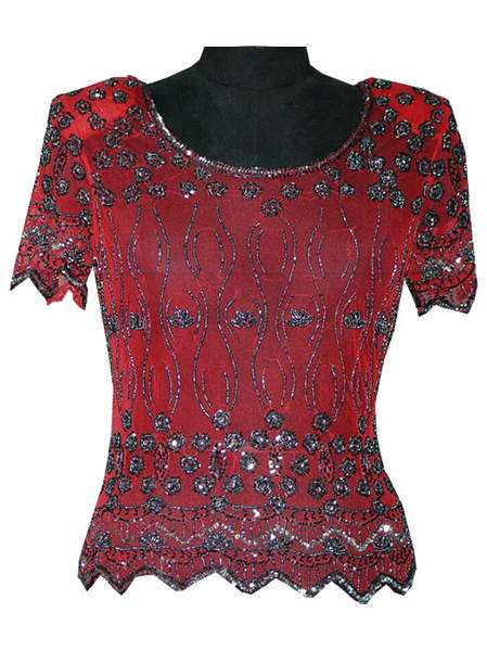 91dc67abe1b285 evening wear Sequin Top   Online Shopping