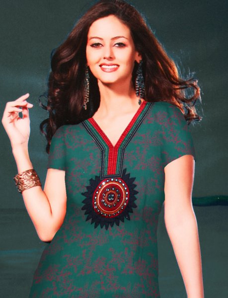 Cotton Salwar Kameez with Patch Work & Fully Embroidered Duppatt